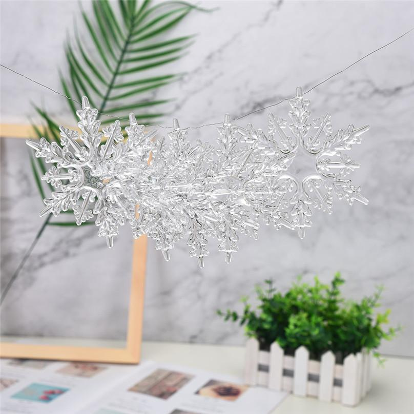 Artificial Snowflakes Acrylic Snowflake Christmas Tree Hanging Decoration Decor For DIY Painting Wedding Decorations #3d11