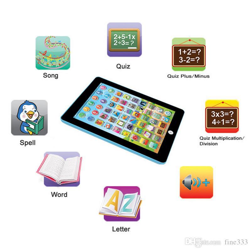 الأطفال الصغار لوحي لعبة القراءة PAD ألعاب تعليمية تعلم هدية للبنات بنين الطفل الانجليزية اللعب