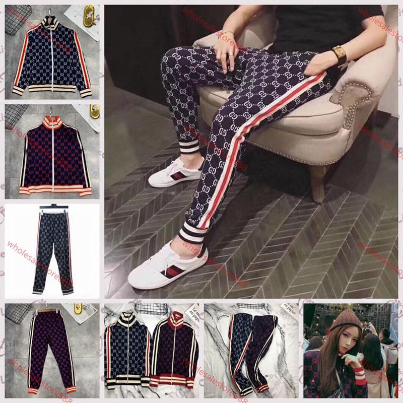 Gucci  Tasche casual trousers xshfbcl yeni Erkek spor giyim lüks moda gömlek ve pantolon takım elbise eşofman eşofman Traje deportivo spor eşofmanı rahat koşu pantolon