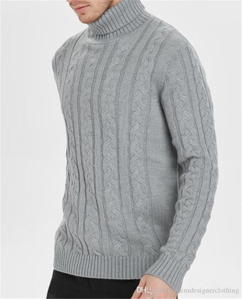 Designer Pullover Mode Pullover Twisted Blumen High Collar Herren Pullover Casual Männchen Kleidung Feste Farbe Herren