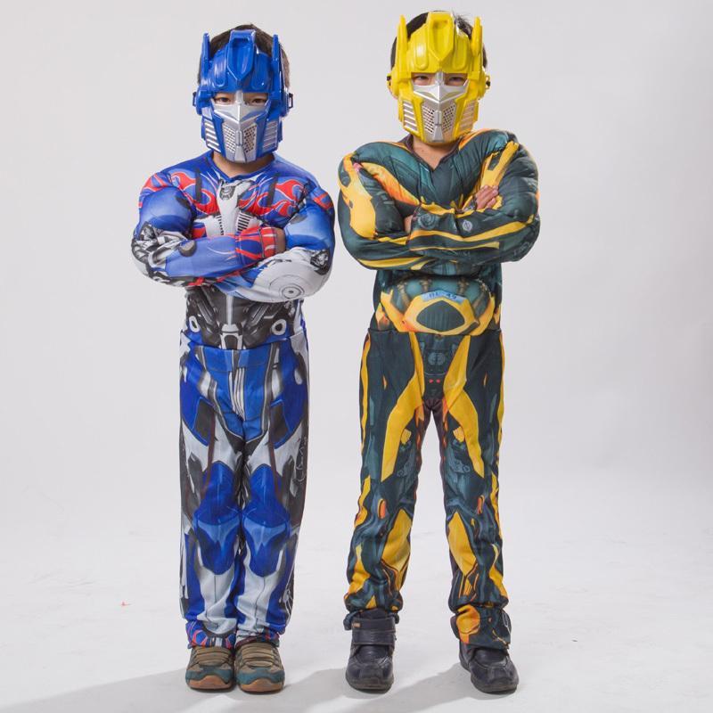 Costume di Halloween per i costumi Boy Film per i bambini di Cosplay Optimus Prime muscolare tuta Costume Mask Bambino Theme
