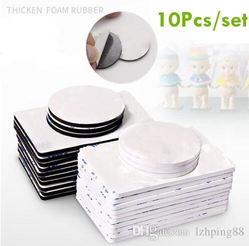 10 piezas de doble cara cinta de espuma negro fuerte coche cuadrado y adhesivos de uso en el hogar accesorios de cinta multifunción