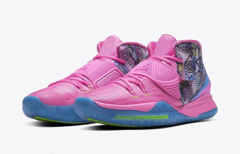 2019 New Mens Kyrie 6 NYC Basketball Shoes Venda Azul Vermelho Oreo Kyries Irving VI Sports entrega gratuita Tênis de basquete com caixa Tamanho lzfboss5