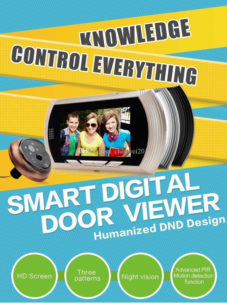Akıllı IP Video Interkom HD 720 P WIFI Görüntülü Kapı Zili Kamera WIFI Peephole Kapı Zili görüntüleyici Ev Güvenlik gözetim kamera