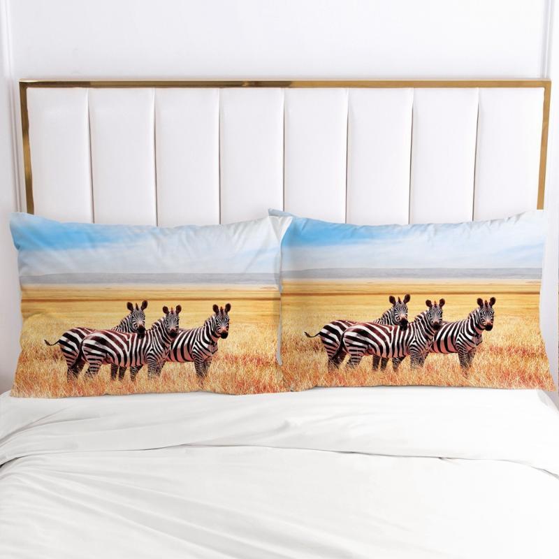 3D fundas de almohada Funda de almohada silla suave decorativo del hogar fundas de almohada cubierta 20x26in 51 * 91 cm 50x70 animal cebra diseño impreso