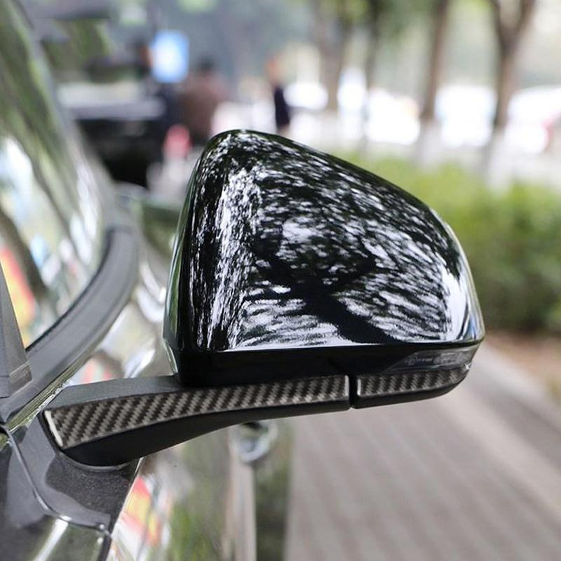 3D Carbon Fiber Rear Mirror Sticker Anti-Rub Strips Protector Car Automobile Repacking accessories for Ford Mustang 2015- 2017 accessories