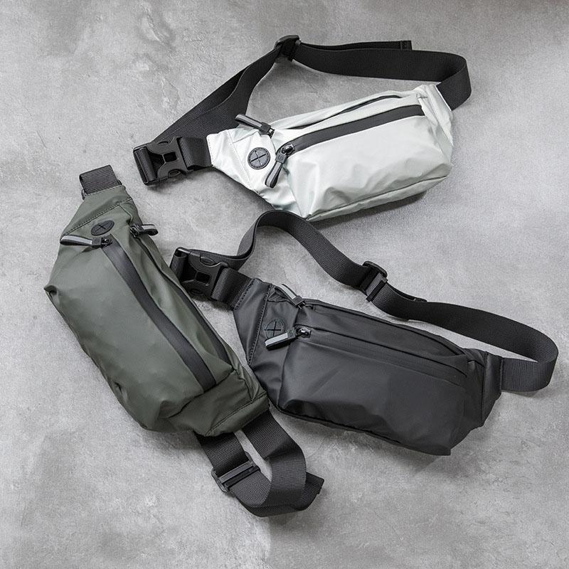L'homme imperméable sac de taille sac banane mode poitrine pack Outdoor sac à bandoulière de grande capacité Sacs unisexe ceinture Packs Hip taille