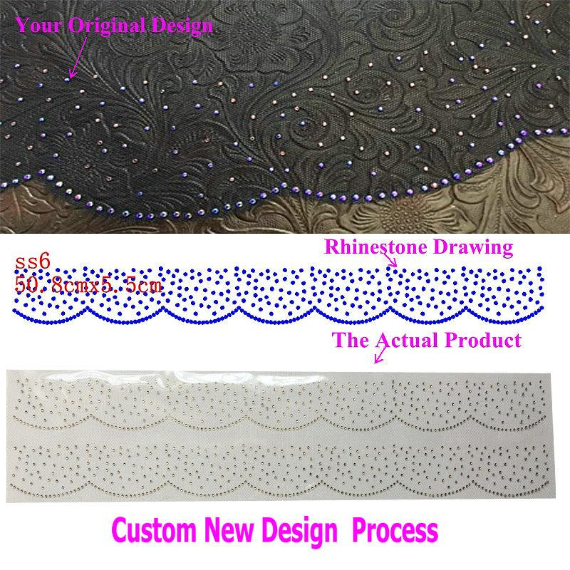 Custom New Design/Motifs Hotfix Rhinestone Iron On Transfers Sticker PLS DON'T ORDER/PAY BEFORE Discuss