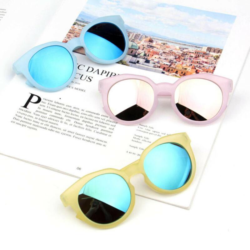 Accesorios del bebé de los niños niñas chico gafas de sol tonos brillantes lentes UV400 protección elegante bebé marco mirada al aire libre