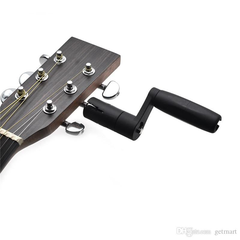 Drfeify Enrollador de Cuerda de Guitarra 2 en 1 ABS Puente Pin Clavija Extractor Destornillador Broca Herramienta de Mantenimiento de Guitarra Multifuncional