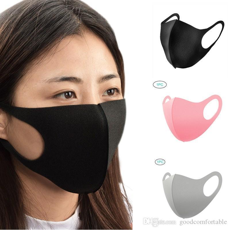 Моющееся лицо Роты Обложка маски 4 цвета пылезащитные моющийся многоразовый Ice Шелкового хлопок Маска Инструменты