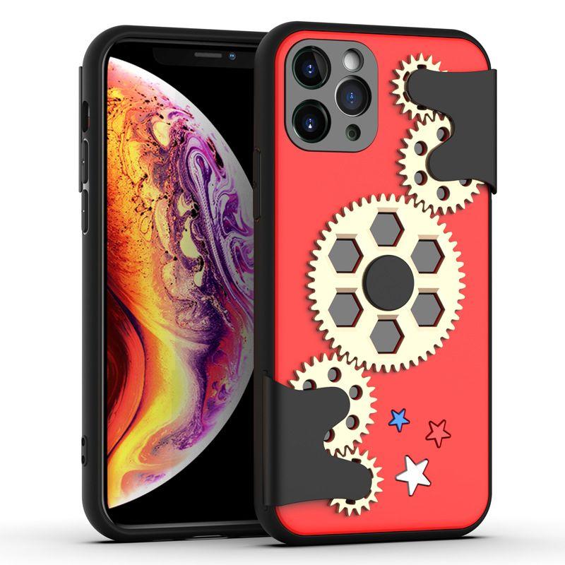 Nouveau couvercle d'engrenage de téléphone cellulaire de protection roue de spires de cas de luxe pour iphone pro 11 x xs max xr 8 7 6 plus