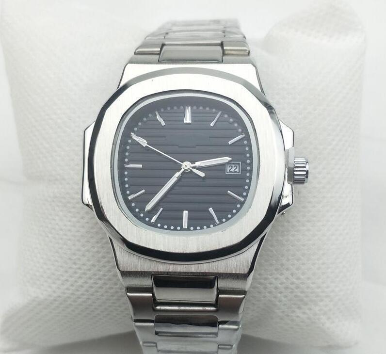 2019 Patek Philippe watch Neue Luxus-Uhren kühle Mann-Uhr-Armbanduhr Art und Weise Sport Edelstahl-Quarz-Kalender Herrenuhr PP-UHR