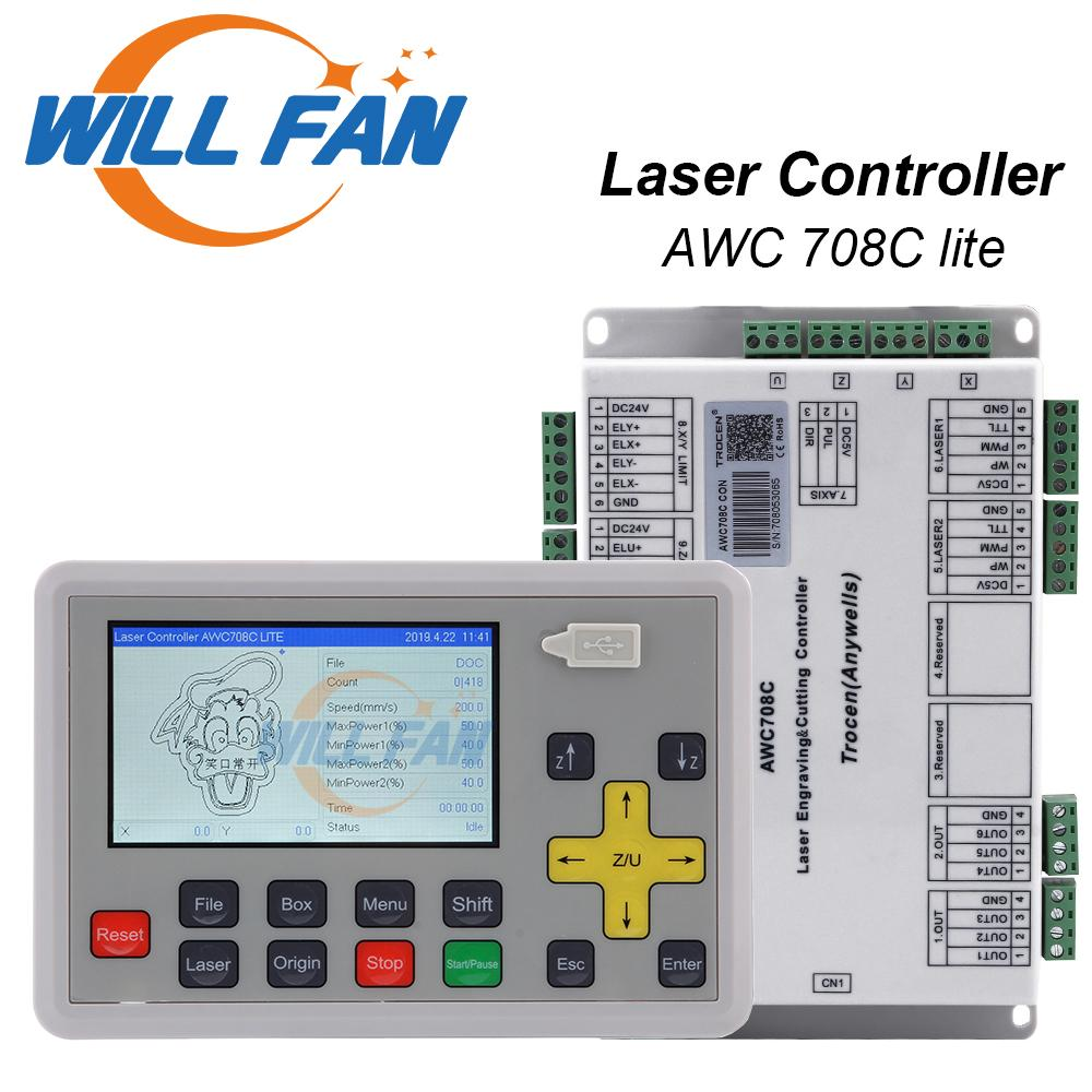 AWC708c Lite laser control system for Co2 laser engrave cut machine .laser mainboard and Controller For Carbon Dioxide Laser