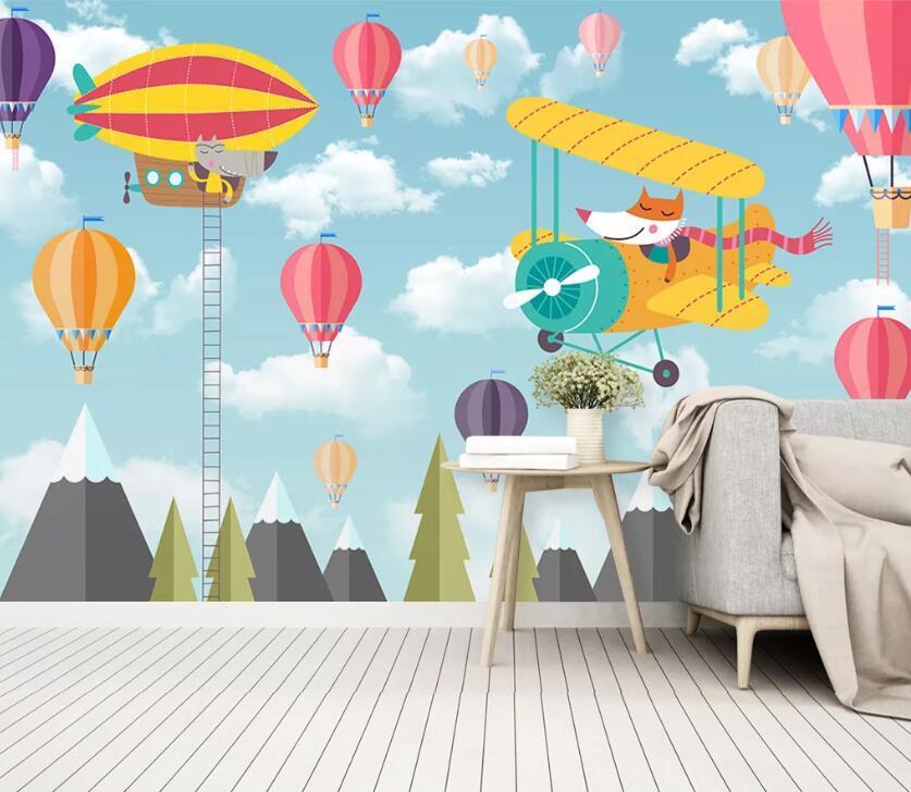 [Самоклеящийся] 3D воздушный шар WC0732 обои настенная роспись стены печать наклейка настенные росписи Музи