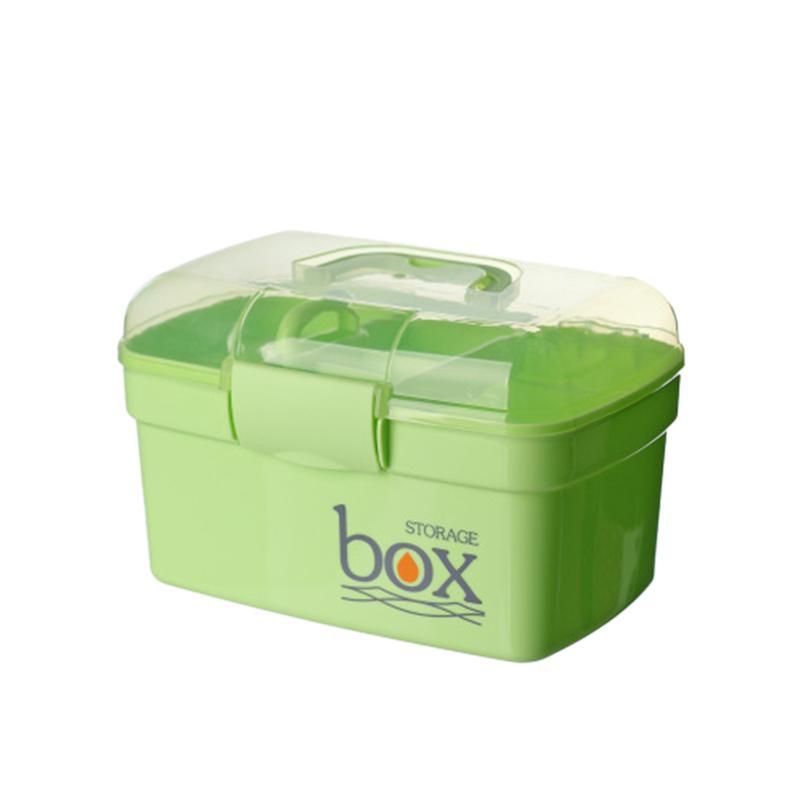 Herramientas de maquillaje multifunción plástico Caja de almacenamiento Organizador esmalte de uñas Labial Cajas sostenedor de escritorio envase cosmético (verde #)