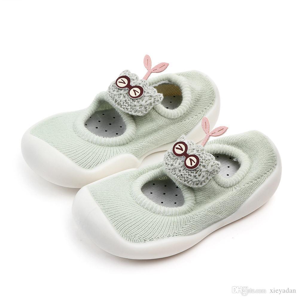 Newborn infantili dei pattini di bambino a piedi scarpe principessa ragazze Mary Jane primo camminatore Prewalkers Cowboy Blue Bow Ballet Dress