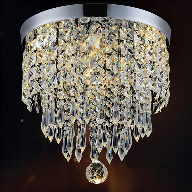 침실 복도 주방 북유럽 천장 조명 산업 샹들리에 거실 등 현대 LED 크리스탈 천장 조명
