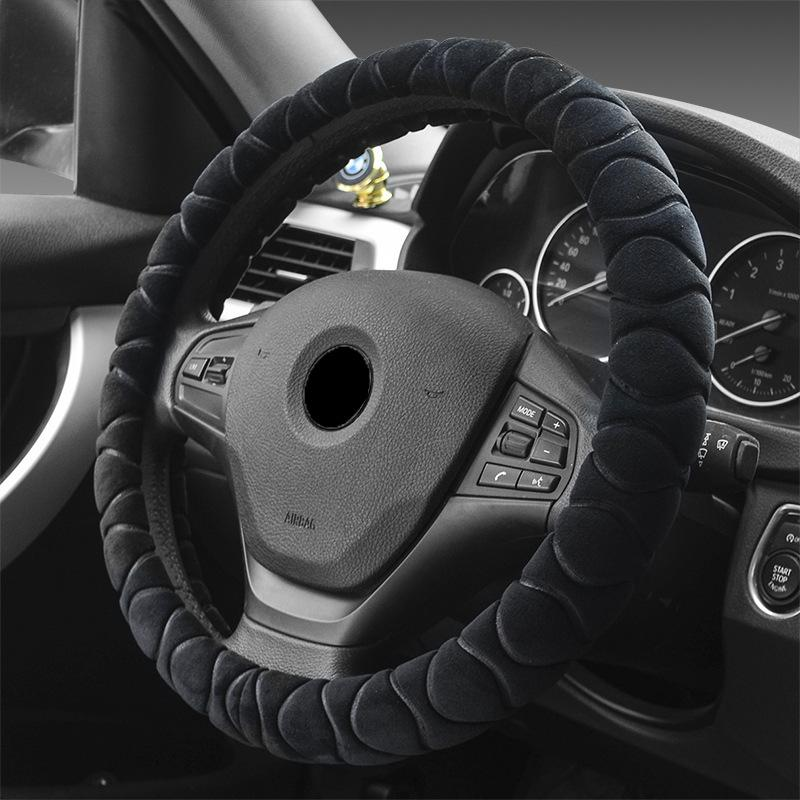15 Inch New Steering Wheel Cover Plush Handlebar Cover for Suv Truck Women Girl Red Purple Auto Product Supply Comfort