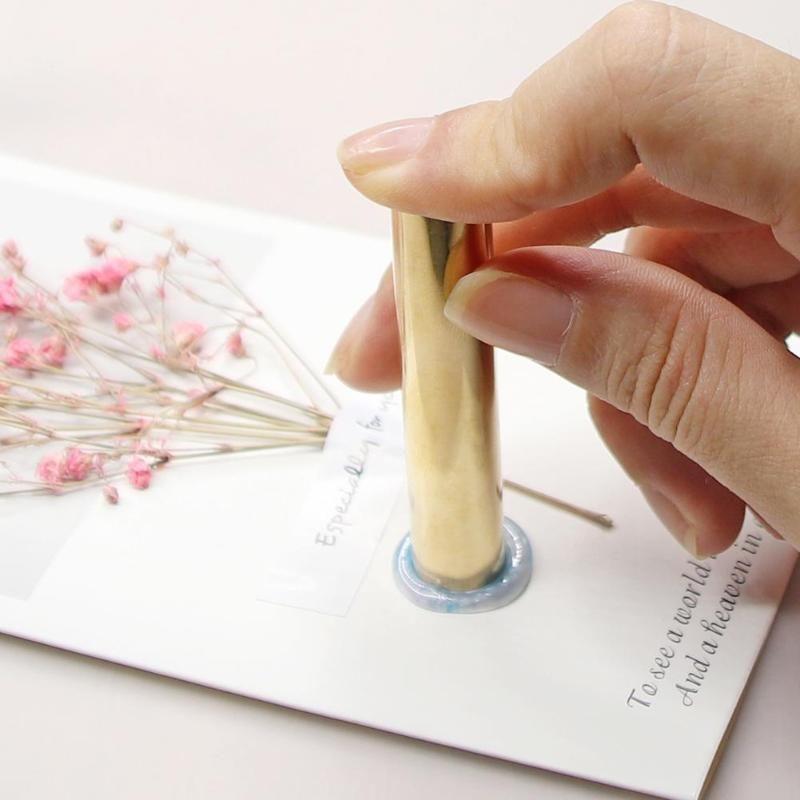 ome Giardino 12 / 15MM cilindrico antico bollo Piante metallo Ceralacca Wedding Envelope handmade hobby fai da te 3D Carve Retro iniziale Wax S ...