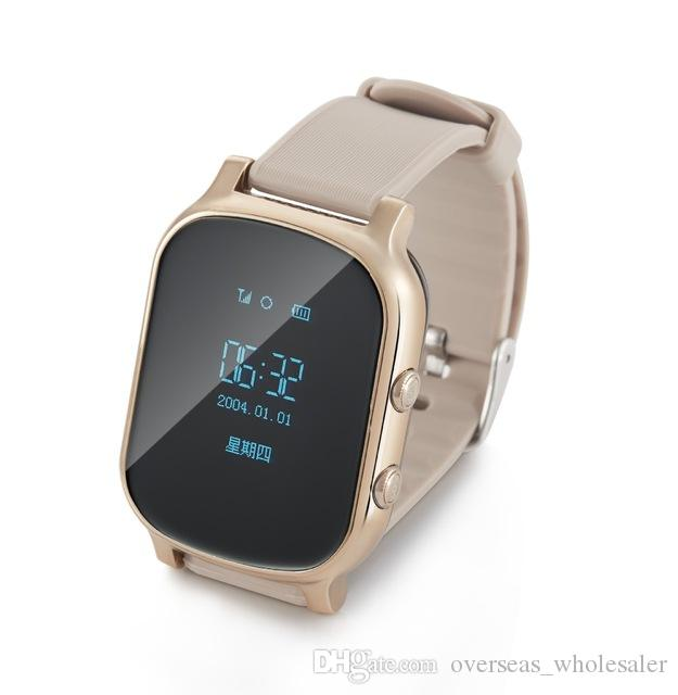 T58 Smart Watch Kids Child Elder Adult GPS Tracker Smart Bracelet GSM Tracking Device LBS WiFi Call Free Web APP Realtime For Android iPhone
