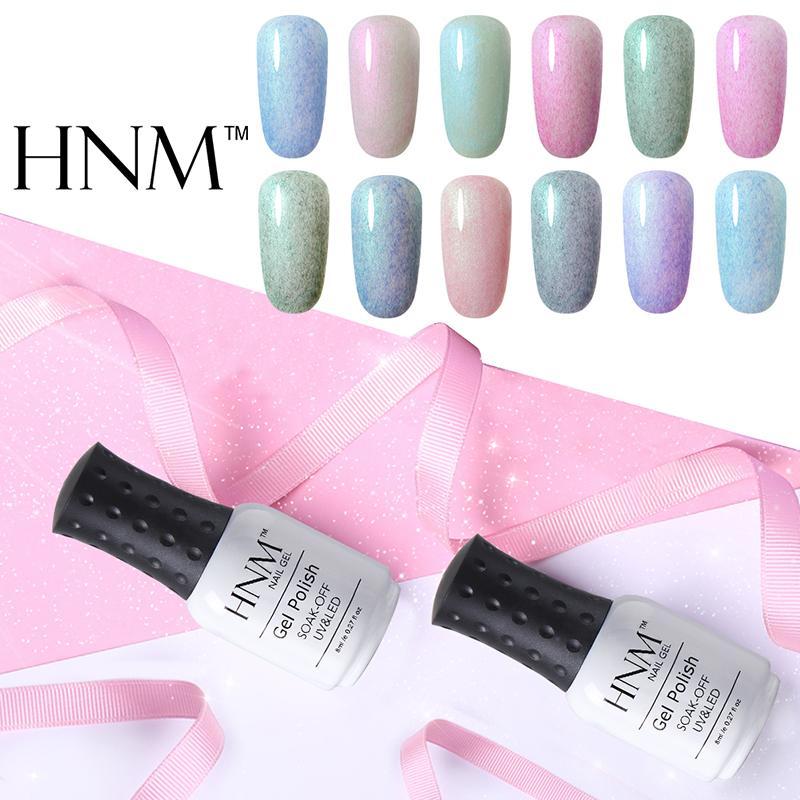 HNMPearly Fax Fur Series Lucky Lacquer UV Gel Nail Polish 8ml LED Lamp Gel Nail Polish Semi Permanent Soak Off Gelpolish