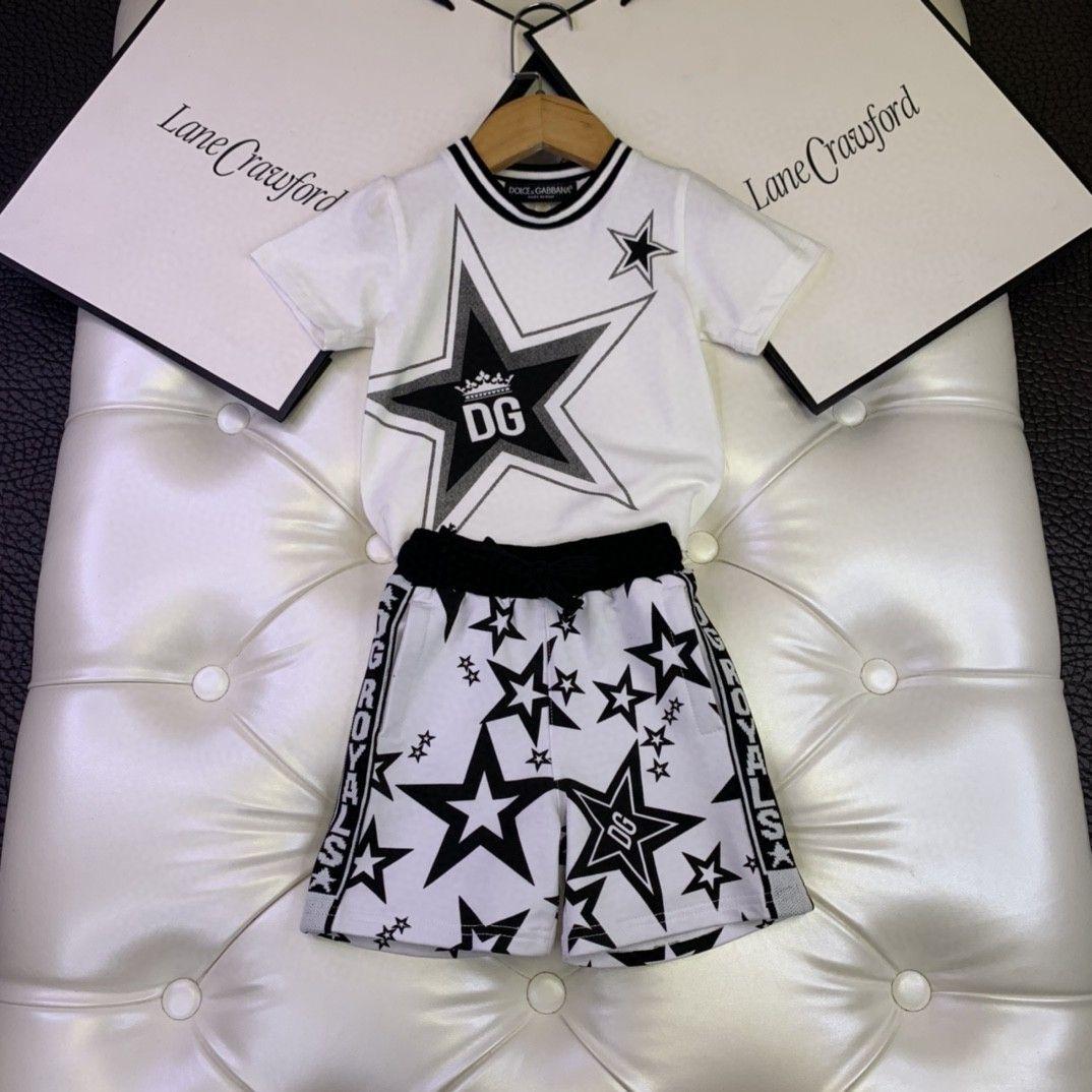 Two Piece Suit terno coreano crianças do sexo masculino menina manga curta Atlético roupas de alta qualidade Estrela padrão 032815