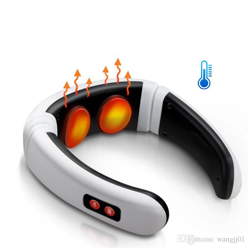 Massager de pescoço elétrico Pulso Voltar 6 Modos Controle de Energia Far Infravermelho Aquecimento de Aquecimento Tool Ferramenta de Cuidados de Saúde Máquina de relaxamento