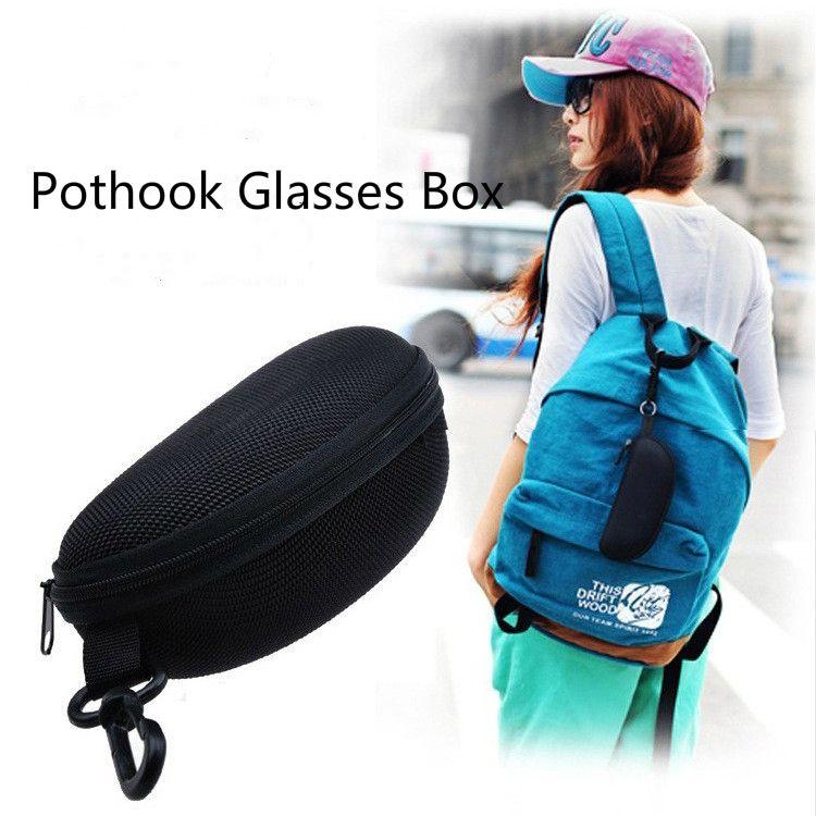 5pcs / lot étui à lunettes de soleil Pothook lunettes de lecture sac de transport sac en fibre portable dur Zipper Box Pack pochette étui à lunettes lunettes accessoires