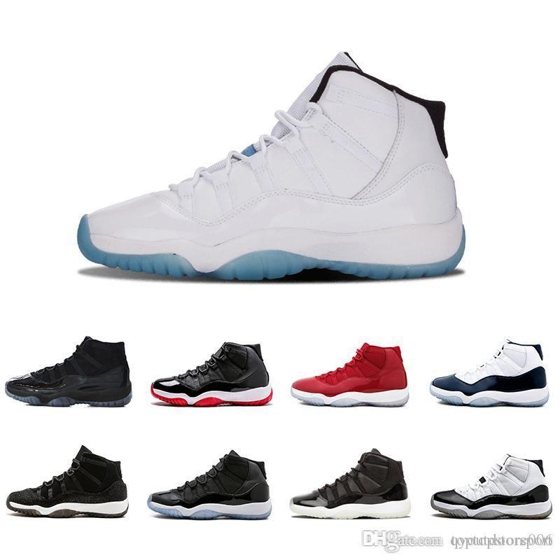 Cheap 11 Mens 11s scarpe da basket Concord 45 Platinum Tint Space Jam Gym Red Win Come 96 XI Designer Sneakers Men Runner