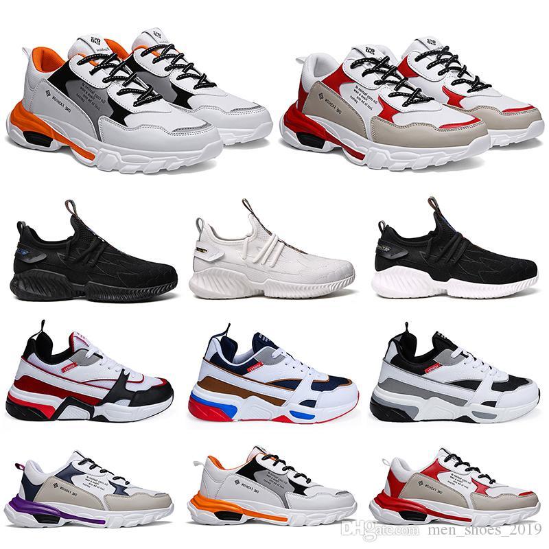 2020 new cheap hotsale fashion men running shoes triple balck white multi-color man trainers sports sneakers item 11 zapatillas 40-46