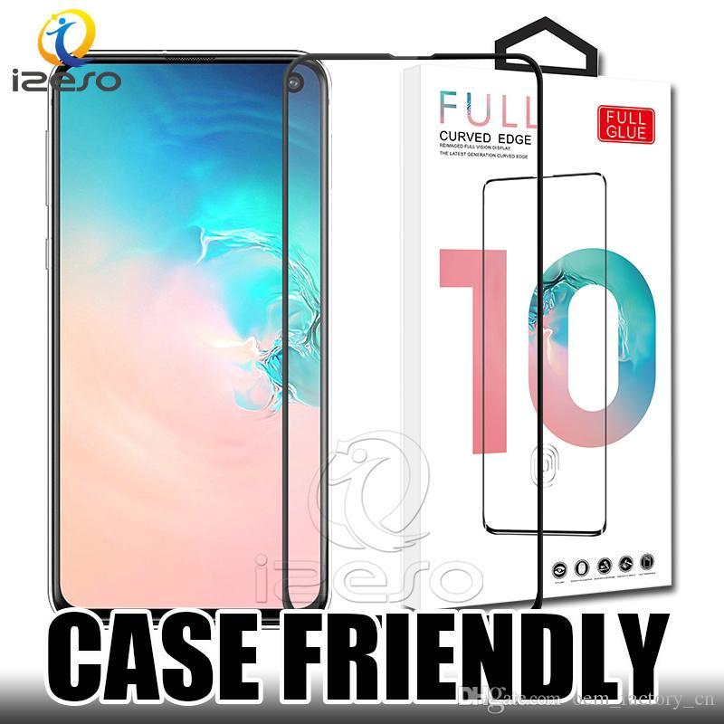 5d tam tutkal temperli cam kapsama ekran koruyucu için samsung a10 a50 a70 a80 a80 iphone xs max xr huawei p30 perakende ambalaj ile