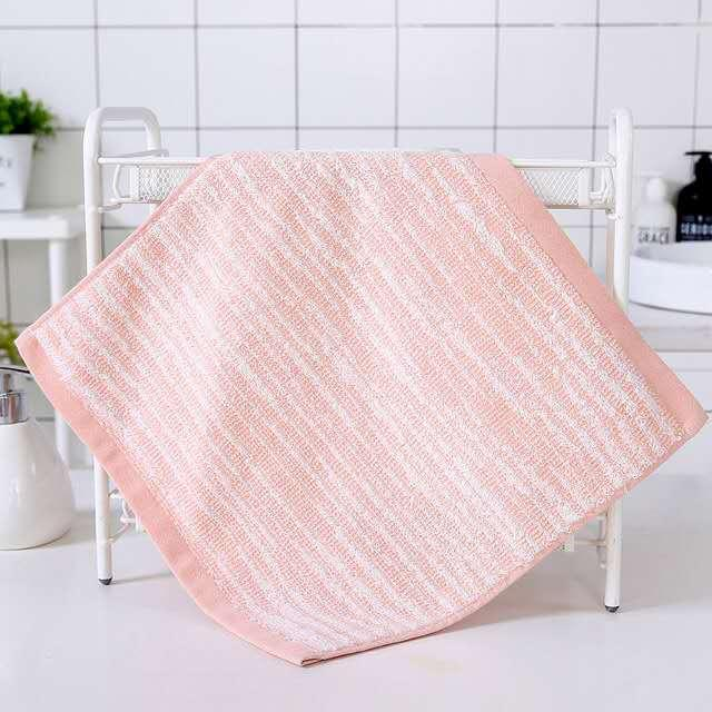 Japon saf pamuk bez, kare havlu, kareli şerit, koyulaştırılmış su emme, 34 * 34 mendil, yüz yıkama havlu