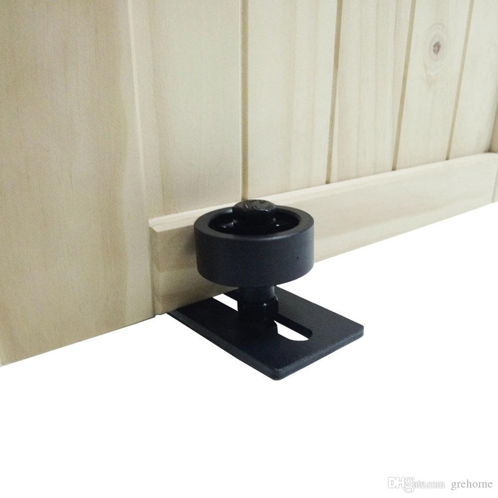 الكربون الصلب قابل للتعديل الأسود مسحوق المغلفة أسفل دليل الطابق البقاء الرول الشونة الأجهزة الباب