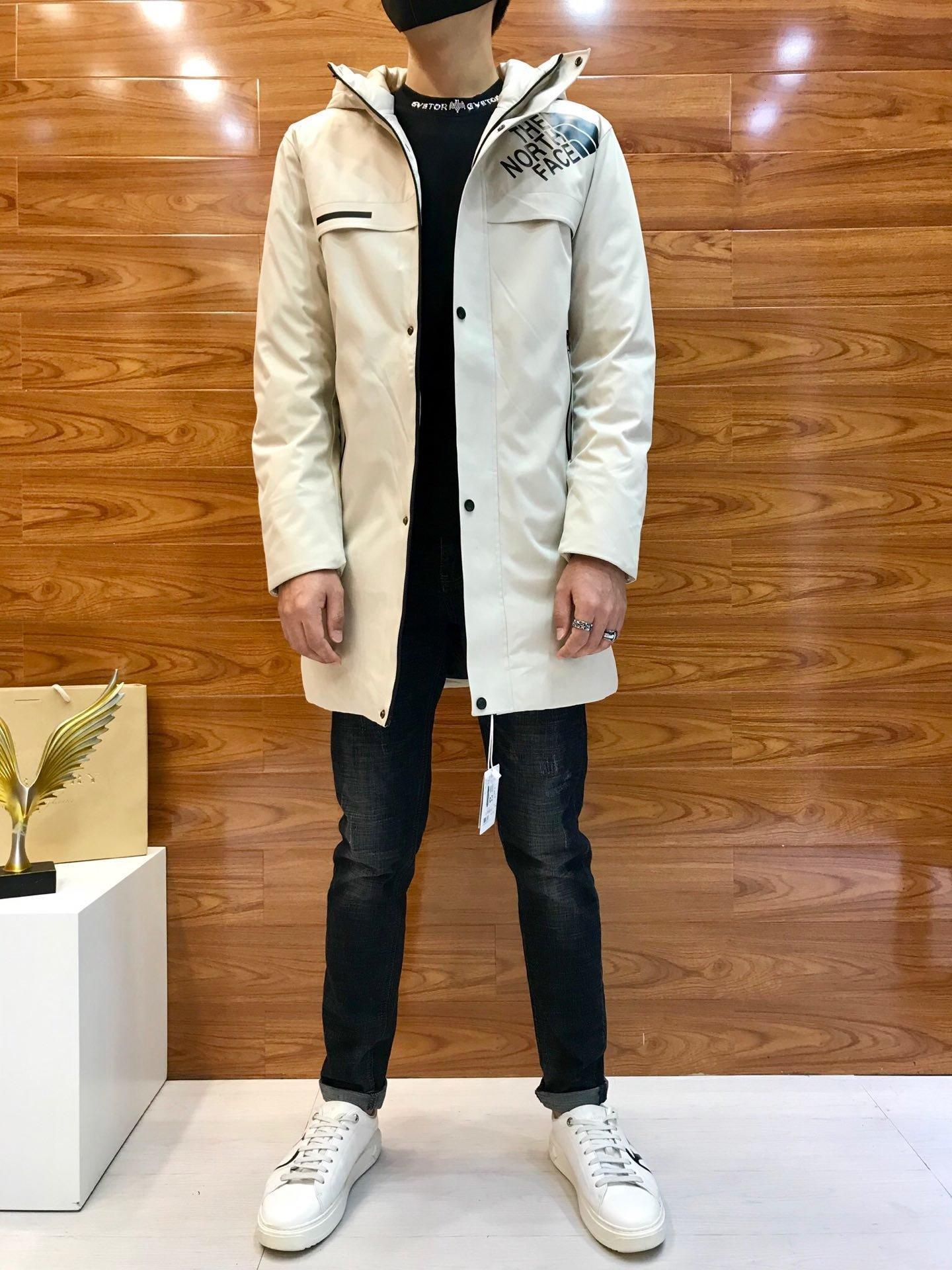trasporto libero Mens dei cappotti di inverno giù ricopre casuale piumini con cappuccio parka 3561 * 6881zy100863
