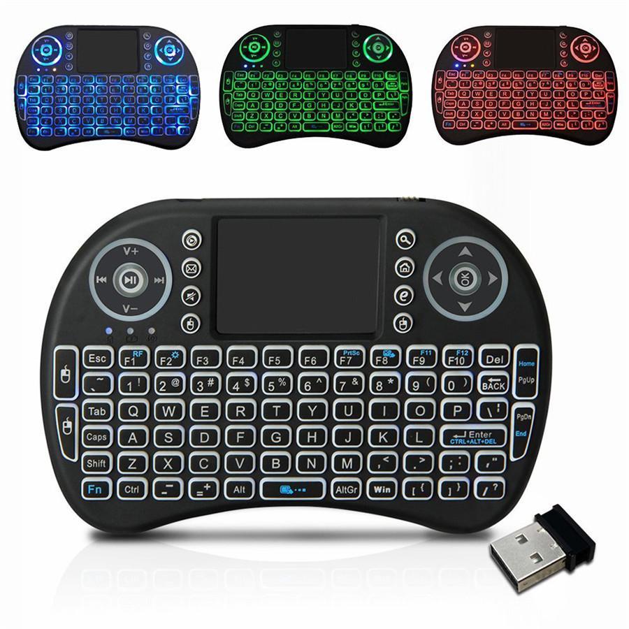 Mini I8 беспроводная клавиатура 2.4G Английский Air Mouse Keyboard дистанционного управления Сенсорная панель для смарт Android TV Box ноутбуков Tablet PC