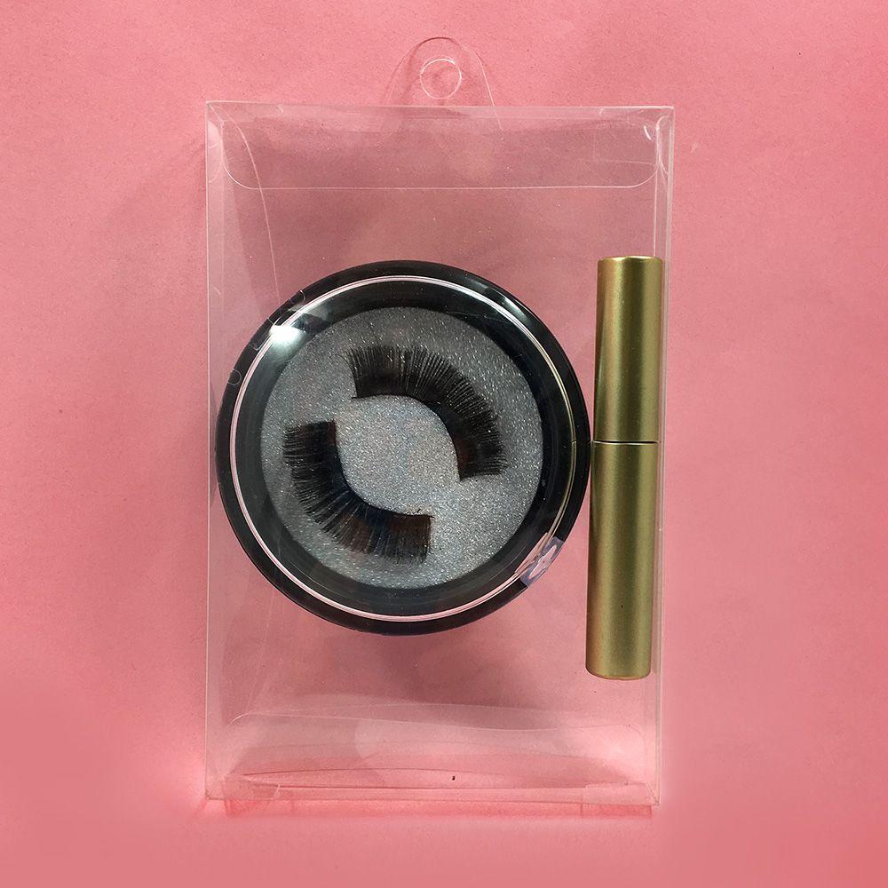 Nuovo eyeliner magnetica private label finto visone ciglia magnetici con cinque magneti