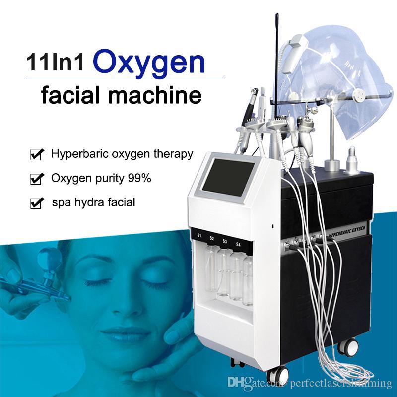 Гипербарические кислородная машина для лица РФ Кислород Jet Peel System Музыкотерапия BIO Pon кожа Затягивайте машину Многофункциональной кислородную маски для лица