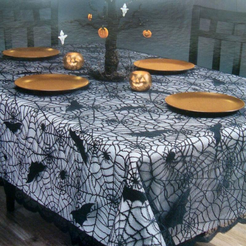 Unheimlich Halloween Tischdecke Tür Fenster Vorhang Party Spinne Fledermäuse Gedruckt Tischdecken Dekorationen Platz Runde