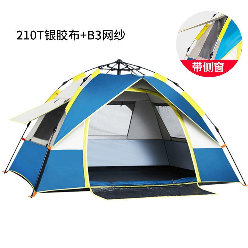 En plein air à double 3-4 personne tente de camping preuve automatique soleil ouverture rapide plage tente de camping