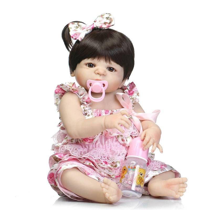 """22"""" Cute simulation silicone bébé reborn Baby Doll dans Poupées Jouets Cadeaux Suspenders"""