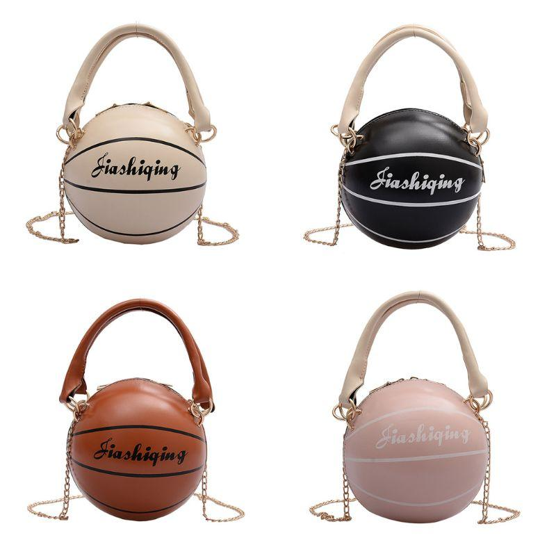 Kadınlar PU Deri Basketbol Şeklinde Omuz Crossbody Çanta Bez Çantası Cüzdan Çanta Sıcak