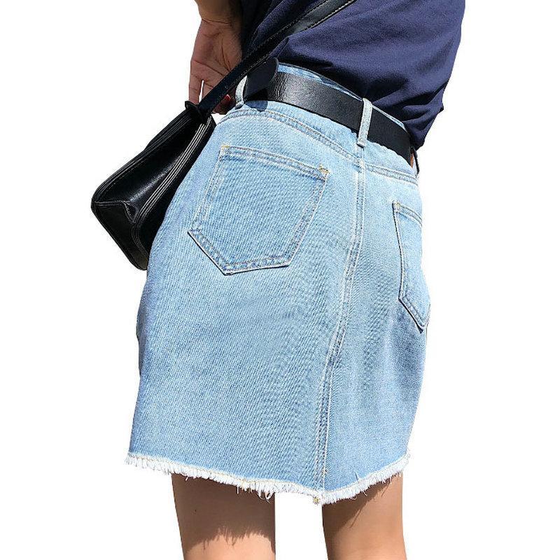 BOBOKATEER плюс размер джинсовые женские юбки женские летние сексуальные мини Высокая Талия черная джинсовая юбка женский Jupe Falda мода 2019 Y200326