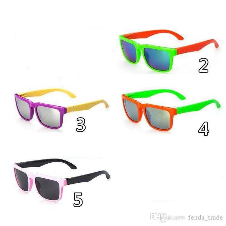 6 options Reflective Kids Sunglasses Brand Designer Sun Glasses for Children Boys Girls Fashion Eyewares Oval UV 400 Eyewares Gafas de Sol