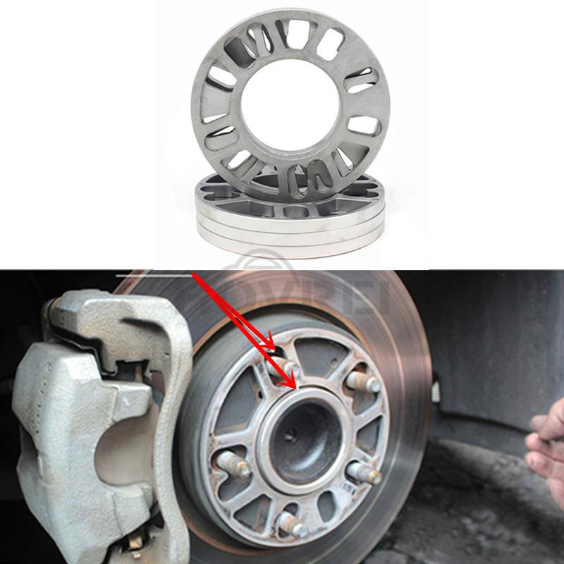 4Pcs 3-10mm Aluminum Alloy Wheel Spacers Shims Spacer Universal 4 /& 5 Stud Fit