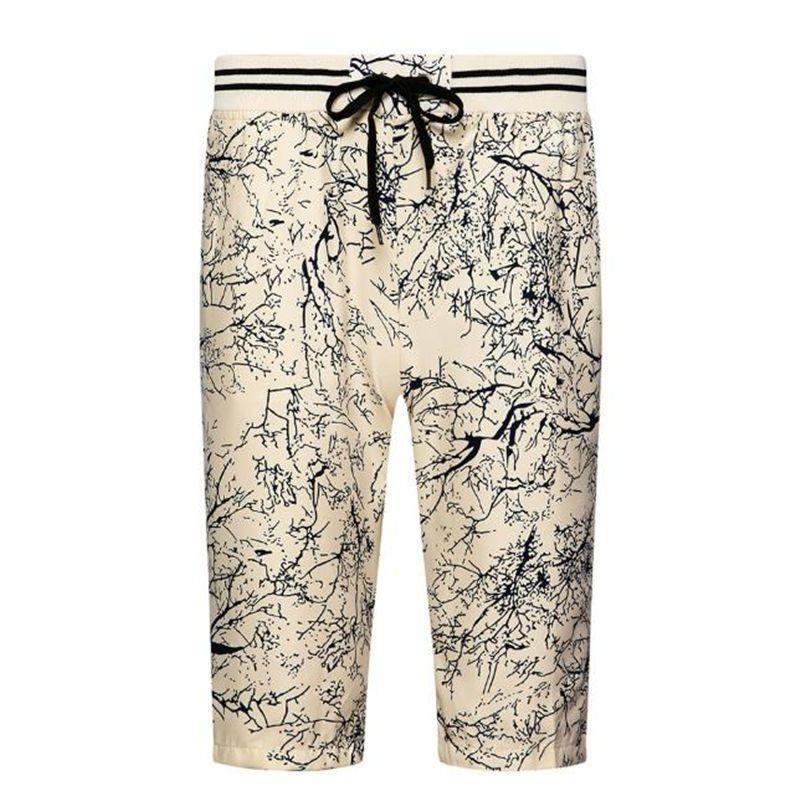 الرجال مطبوعة سراويل عادية سروال ذكر صيف شاطئ الرباط الملابس العصرية مصمم سروال فضفاض قصيرة