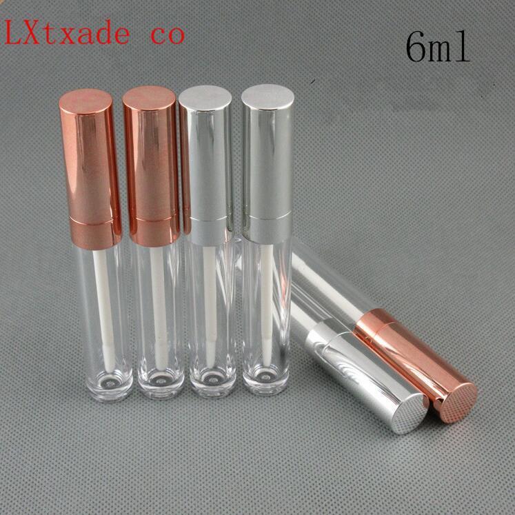 Livraison gratuite en or rose Argent, Vide Lip Gloss Tubes Récipients Baume à lèvres Rouge à lèvres Lip huile Tubes bouteille de gros au détail
