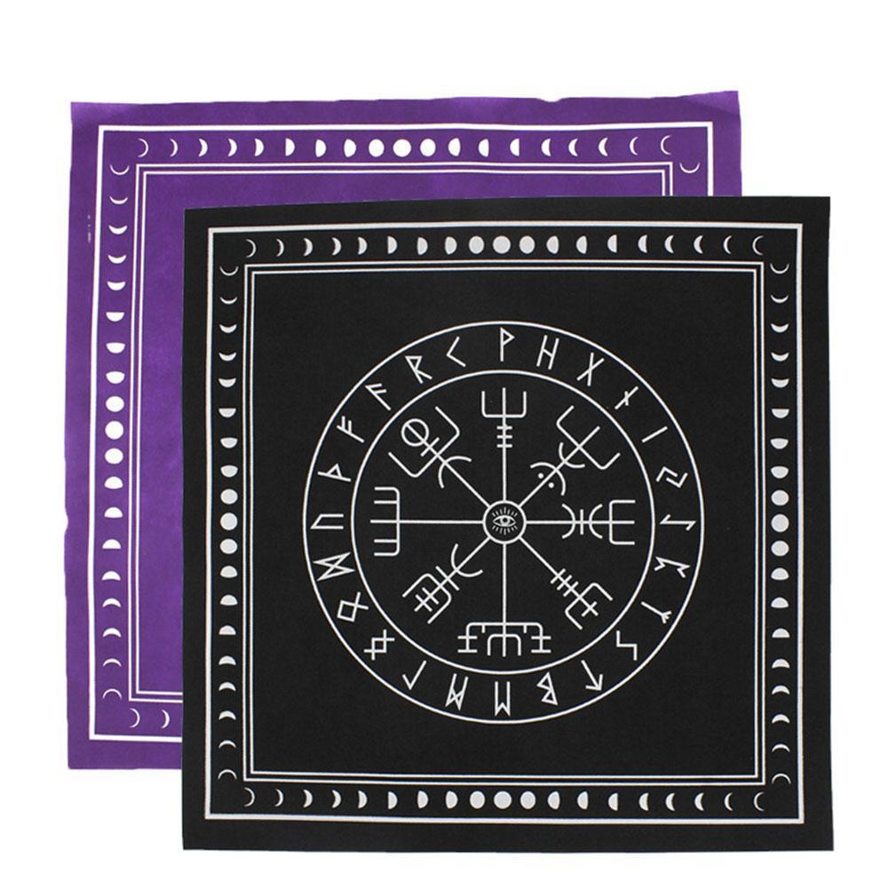 Tarot Toalha Triple Moon Pentagram Pagan Altar Cartão Pano para o partido flanela Jogando deck Cartões Board Game Entretenimento