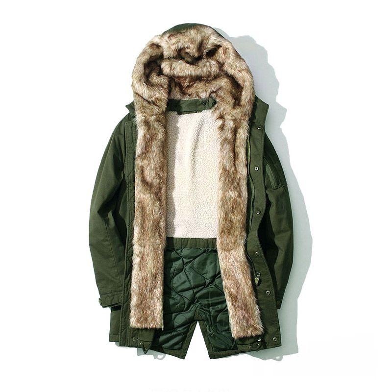 2018 New Winter Fashion Casual Men Windproof Thick Parka Coats Men