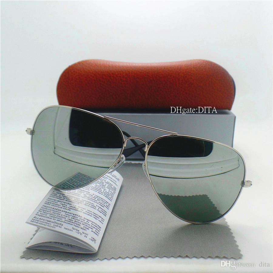 High Quality Glass Lens Brands Sunglasses Men Women Sunglasses 58MM 62MM Trends Eyewear Shade Mercury Mirror UV400